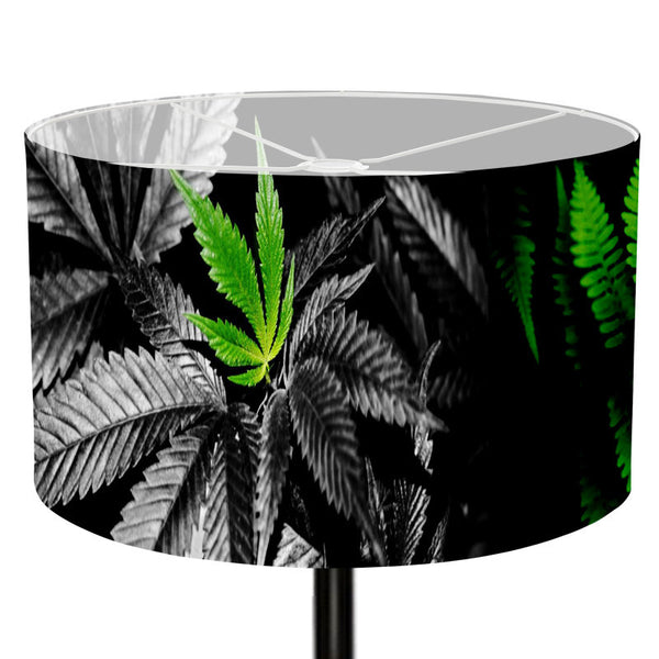 Leaf Designs Orange Floral Lamp Shade