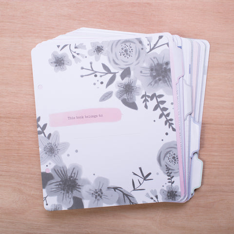 6x8 Watercolor Journal Pages - Pocket Scrapbooking - 1