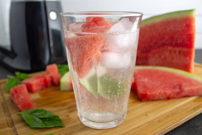 Stay Hydrated with a Watermelon-Basil Sparking Water