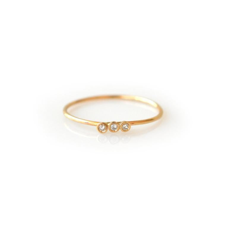 14k Diamond Trio Ring