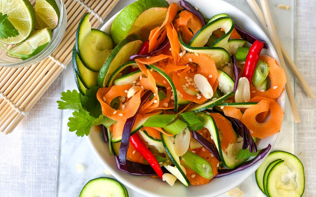 Zucchini Easy Recipes | Thai Salad with Peanut Sauce