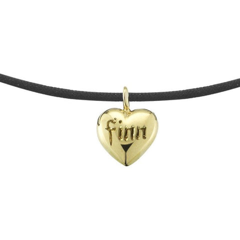 simple everyday adjustable string bracelet with 14k gold heart by finn by candice pool neistat