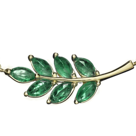 Emerald Leaf Necklace - Finn