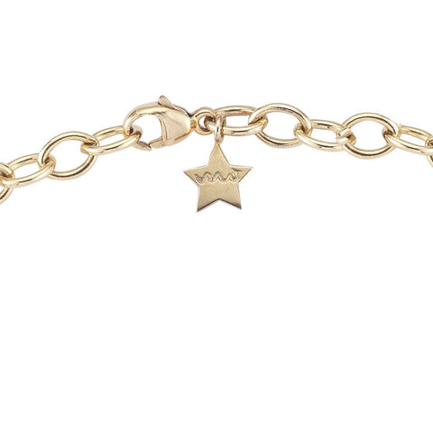 everyday linked gold cable chain necklace with star by finn by candice pool neistat