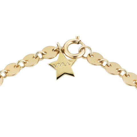 everyday minimalist gold sequin chain bracelet with star by finn by candice pool neistat