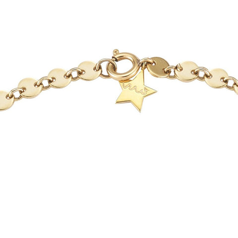 everyday minimalist gold sequin chain necklace with star by finn by candice pool neistat
