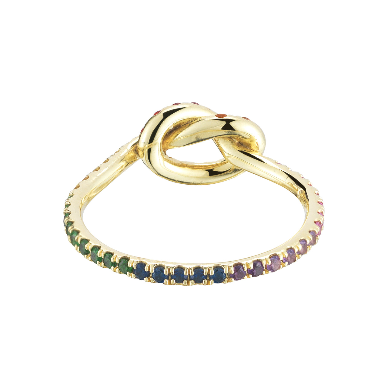 Rainbow Love Knot Ring