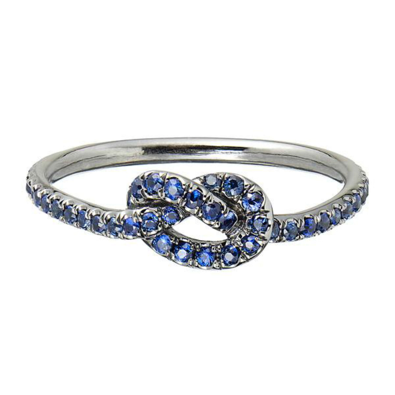 Small Cornflower Blue Love Knot Ring