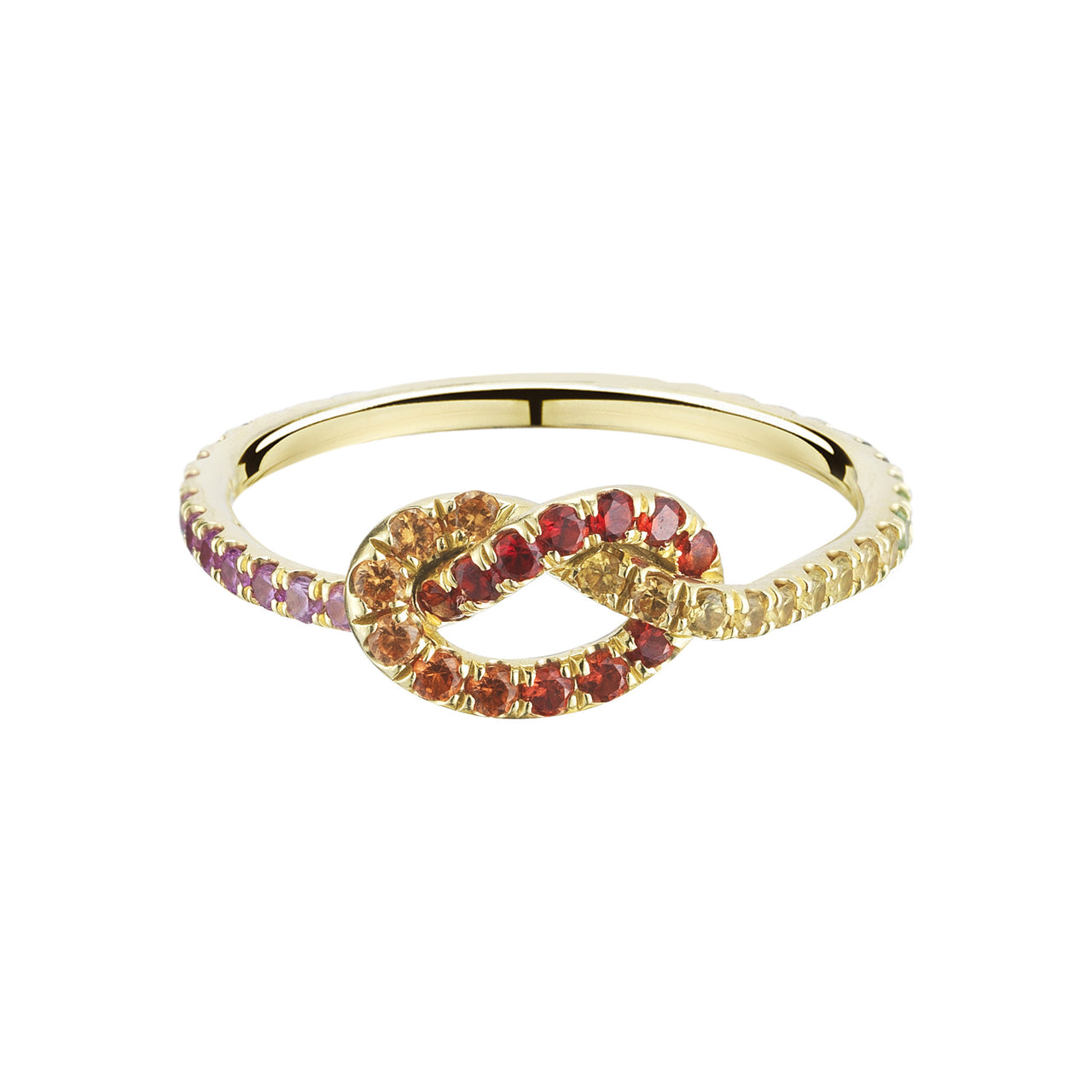 Rainbow Love Knot Ring - Finn