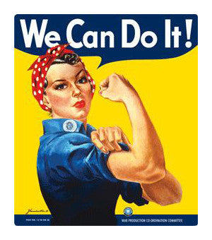 We Can Do it! Tin Sign
