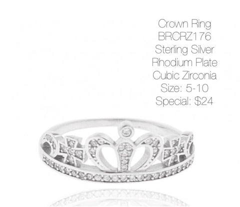 Cross Crown Ring BRCRZ176