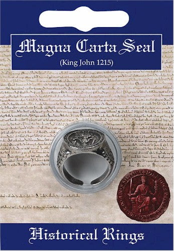 Magna Carta Seal Ring Replica for Historic Costume Unisex