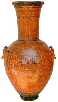 Museumize:Funerary Greek Geometric Vase, Interior Design Grande 24.5H