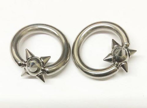 Stainless Spiked Captive Bead Ring