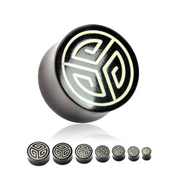 Maze Inlay Horn Plugs