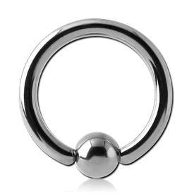 12g Titanium Captive Bead Ring
