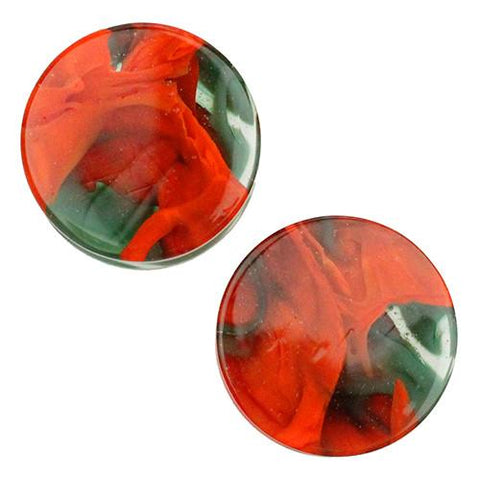 Plugs - Aqua & Orange Power Plugs By Gorilla Glass