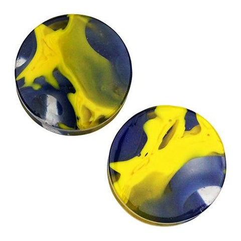 Plugs - Blue & Yellow Power Plugs By Gorilla Glass