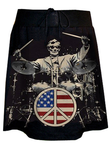Abraham Lincoln Rocks USA Peace Print T-Shirt Skirt