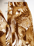 Safari Exotic Animals Printed Maxi Skirt - IDILVICE Clothing - 3