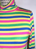 Neon Stripe Turtleneck Top - IDILVICE Clothing - 5