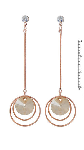VIENNOIS ROSE GOLD ALLOY HUGE/LONG EARRING Y5317070