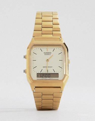 Casio AQ-230GA Gold Dual-Time Watch