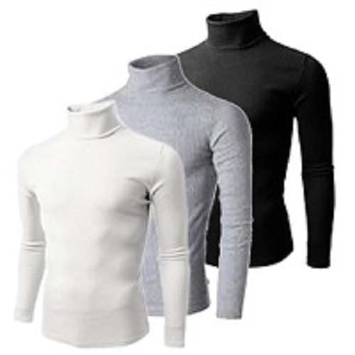 U-zem 3 in 1 Bundle Turtle Neck T Shirts