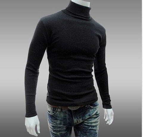 POLICE X.007 EXTRSIZE TURTLE NECK PLAIN BLACK/WHITE/GREY LONG SLEEVE T-SHIRT