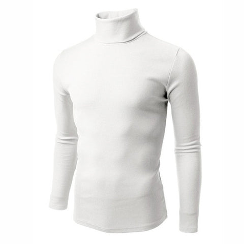 UZEM WHITE TURTLE NECK BODYSIZE T-SHIRT Size M-Large