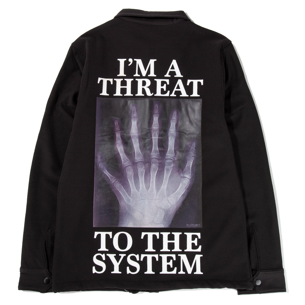 P19P103013 Pleasures Threat Coaches Jacket / Black