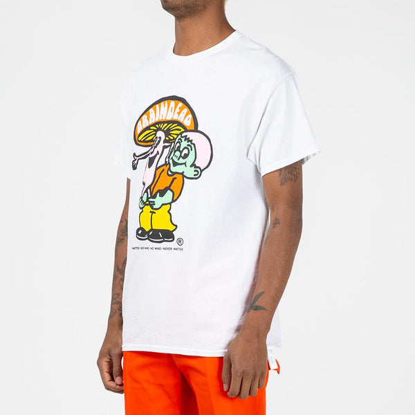 BDSS1917 Brain Dead Nevermind T-shirt White / Natural