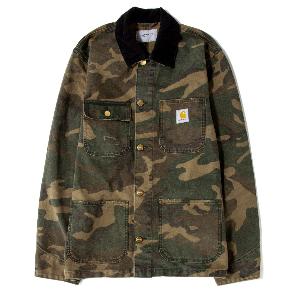 I026480 Carhartt WIP Michigan Coat / Camo Laurel Aged Canvas