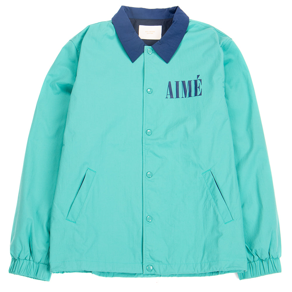 SS19WJ007T Aimé Leon Dore Coach Jacket / Tropical Green