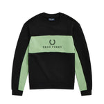 Fred Perry Piped Sweatshirt<p>Black