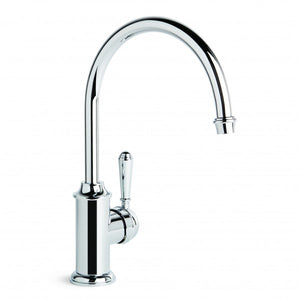 Neu England Kitchen Mixer with Single Lever and Swivel Spout (Chrome)