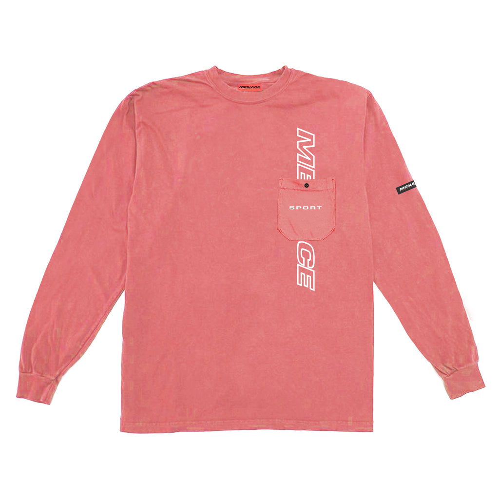 LOGO POCKET LONGSLEEVE Long-sleeve T-Shirt MENACE Los Angeles Streetwear Clothing