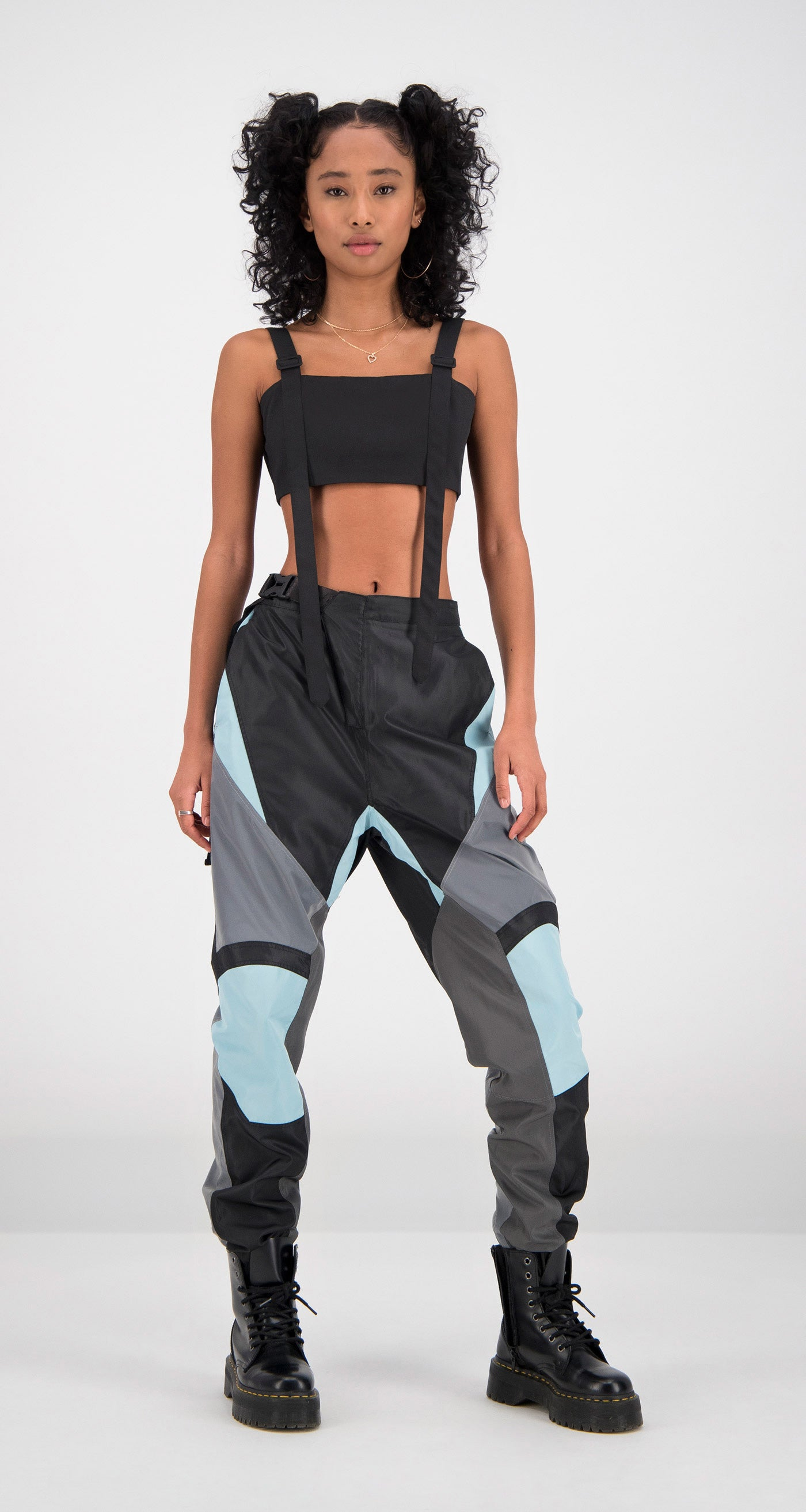 Daily Paper - Light Blue Firt Pants Women Front
