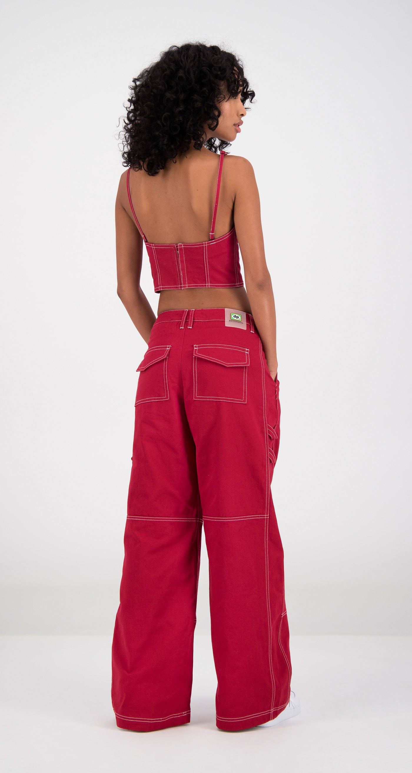 Daily Paper - Red Femma Pants Women Rear