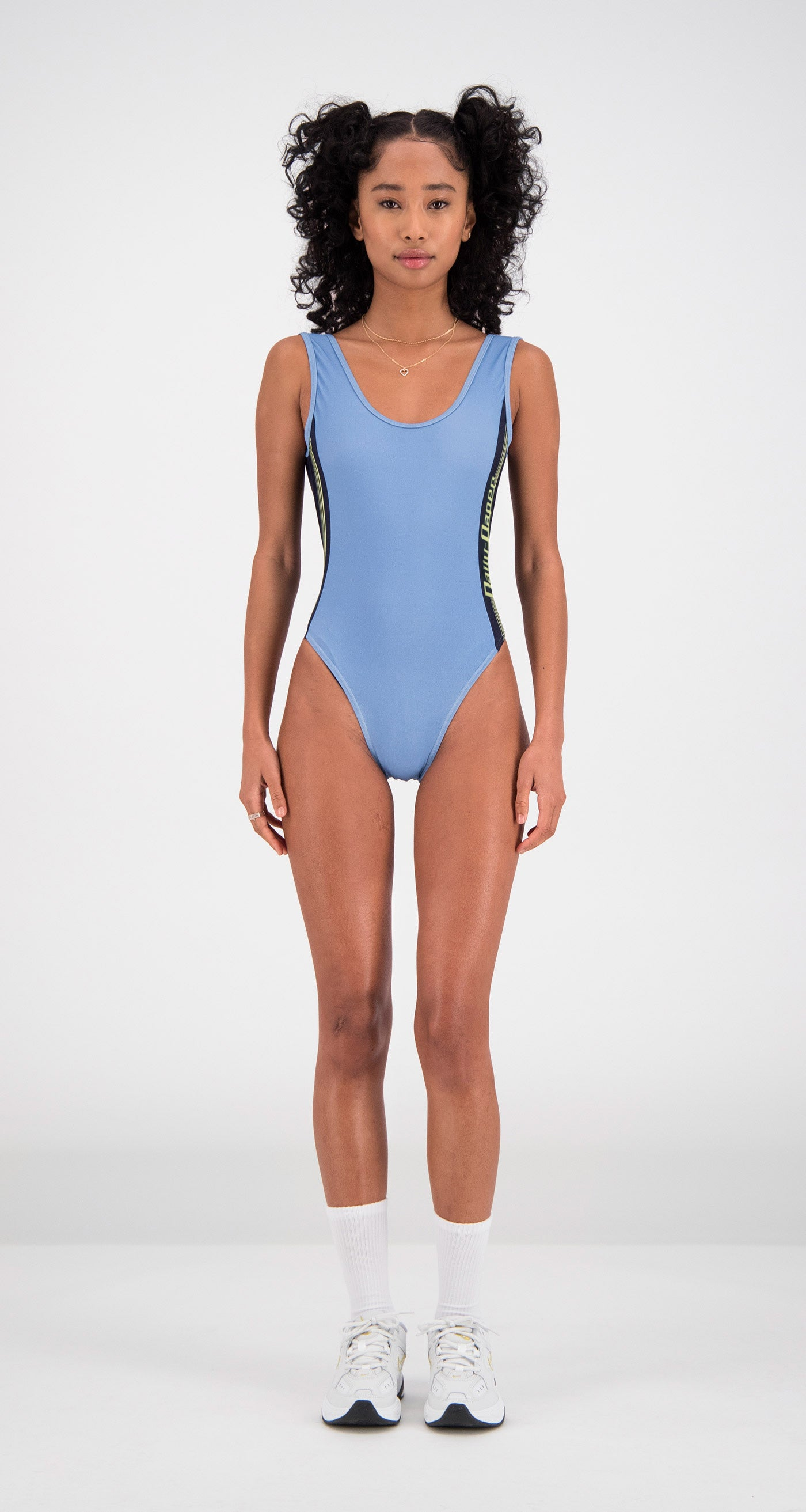 Daily Paper - Light Blue Filou Swimsuit Women Front