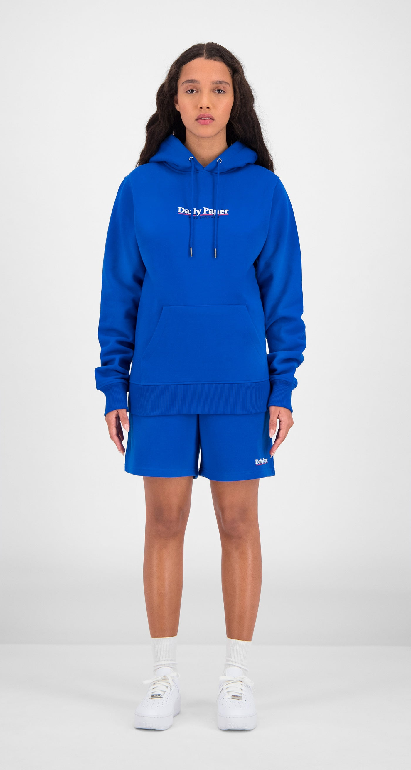 Daily Paper - Blue Essential Hoody Women Front