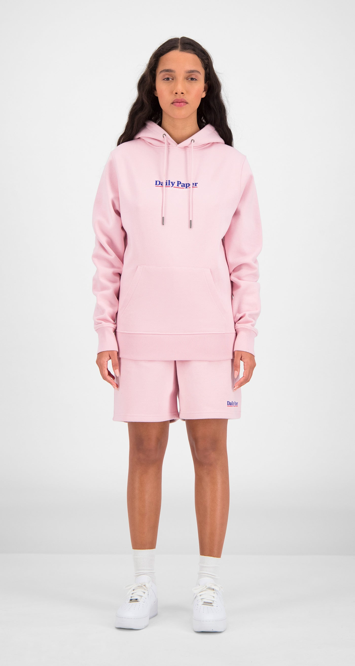 Daily Paper - Pink Essential Hoody Women Front
