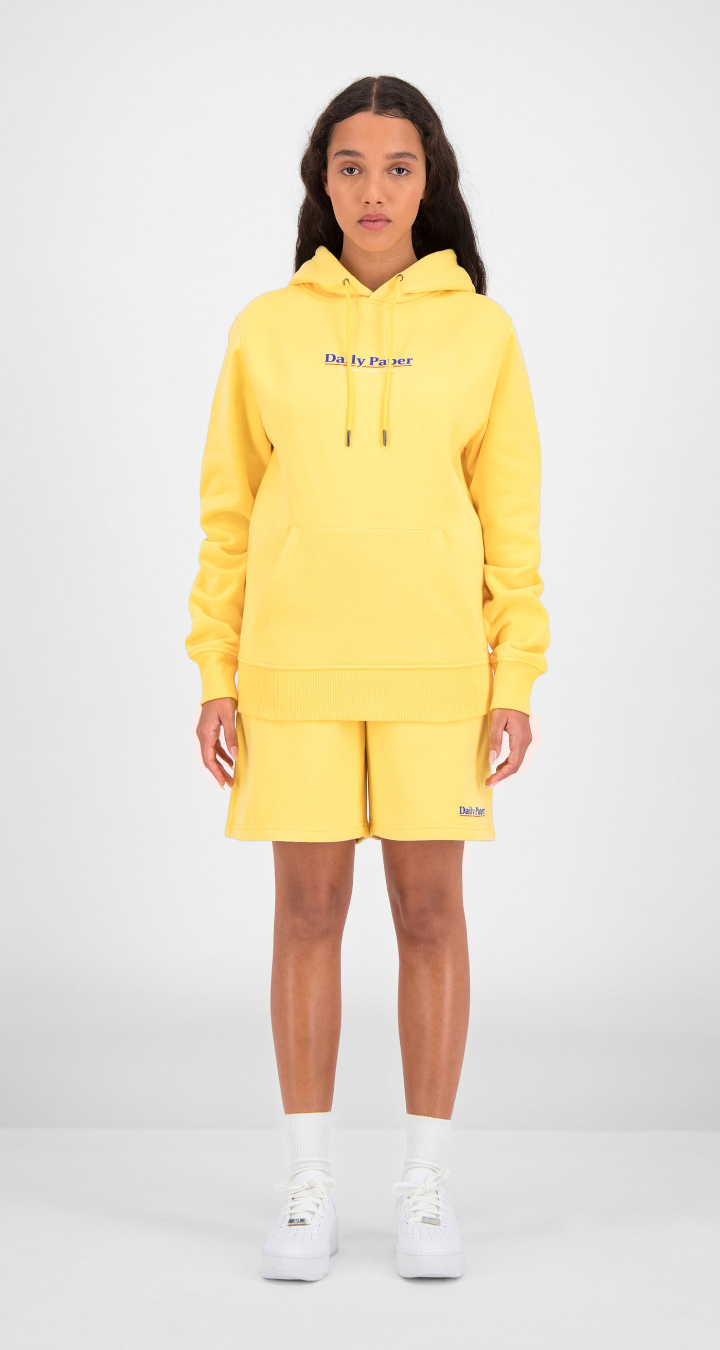 Daily Paper - Yellow Essential Hoody Women Front