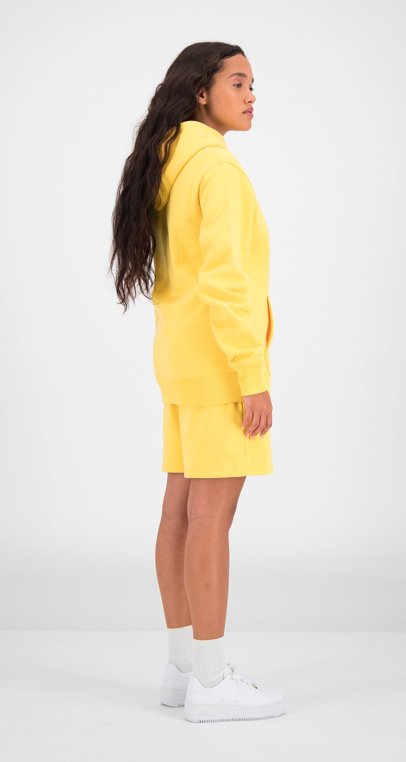 Daily Paper - Yellow Essential Hoody Women Rear