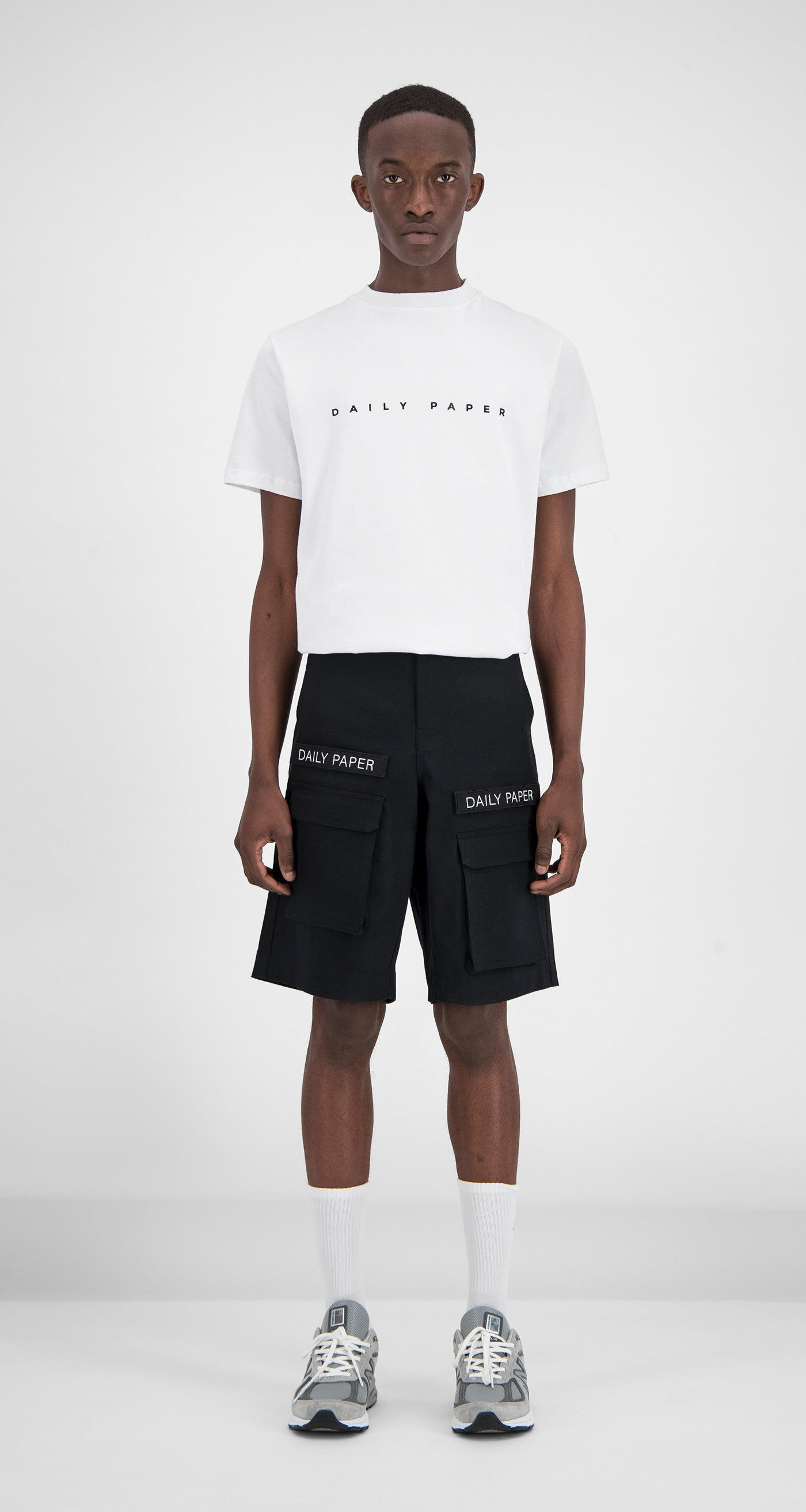 Daily Paper - Cargo Shorts Black Men Front