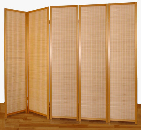 Nature Wood Room Divider - 5 Panel