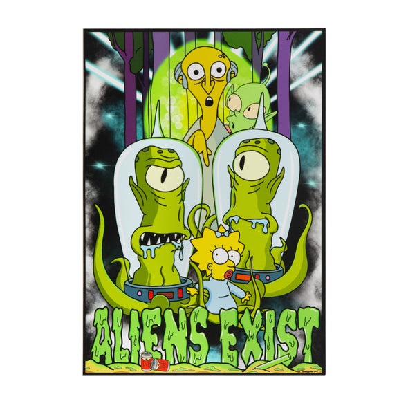 Aliens Exist Part II A4 Print