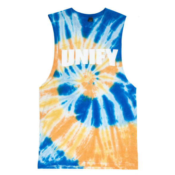 Celebrate The Noise Sleeveless (Yellow/Blue Tie Dye)