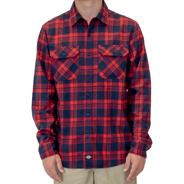 Palouse Flannel Shirt (Red/Navy)