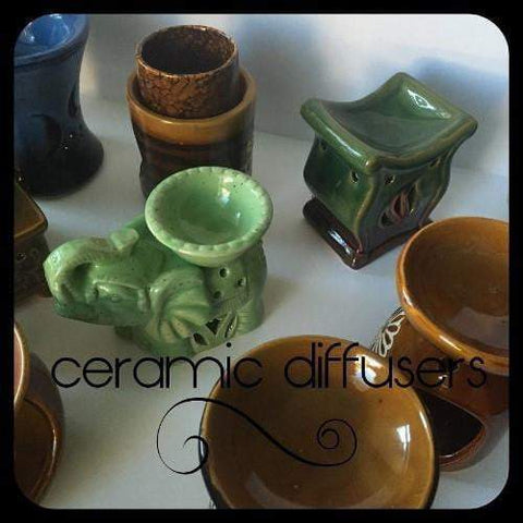 Ceramic Aromatherapy Candle Diffusers - L's Naturals-  Bath, Body & Home Products
